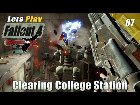 Let's Play - Fallout 4 - Ep 07, Clearing College Station and More