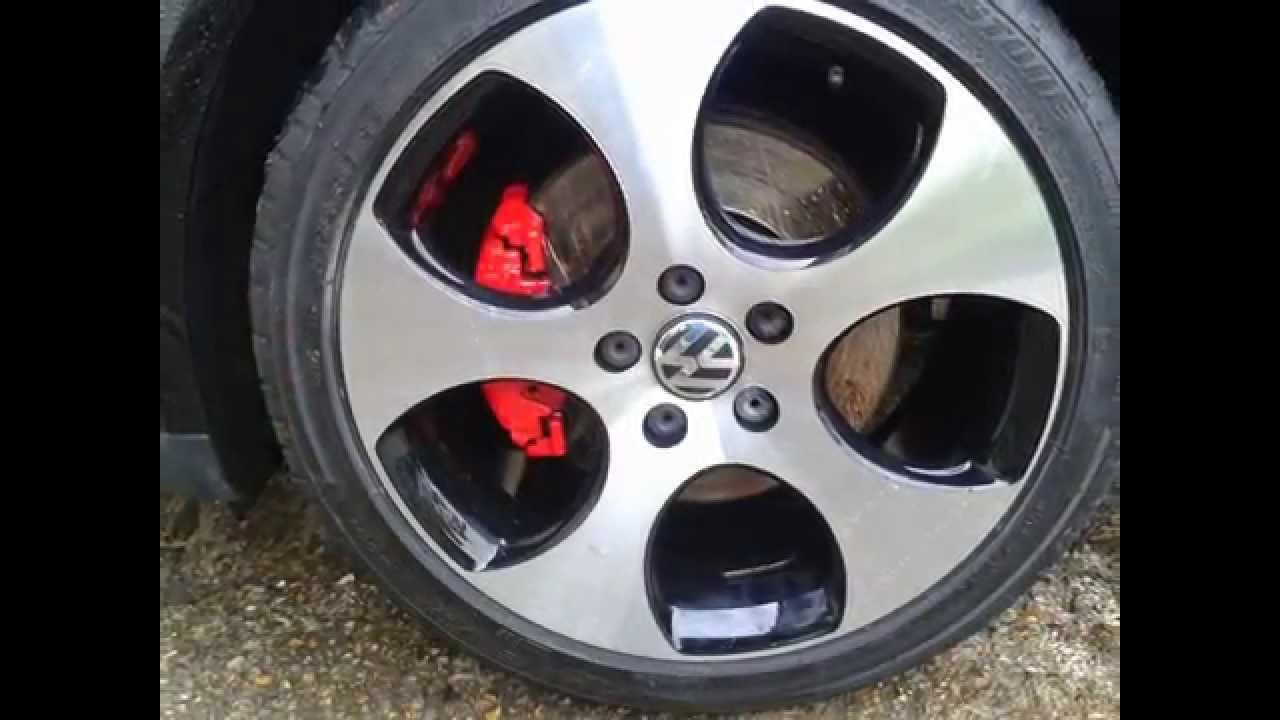 Golf GTI Monza alloy wheel repair by wheel doctor surrey - YouTube