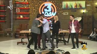 3 Adam - Kerem Bürsin Geldi Stüdyo Çoştu (2.Sezon 7.Bölüm)