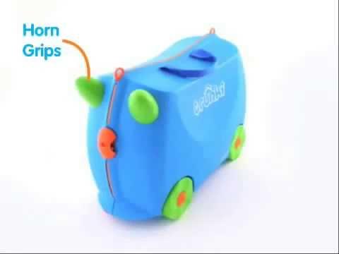 Детский чемодан на колесах - youtube HD13