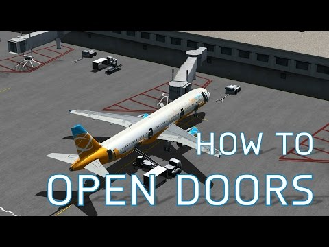 FSX How to Open Doors, Cargo Doors + Jetways, Pushbacks, Lug