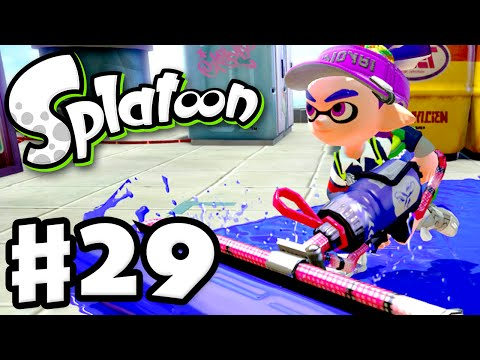 Splatoon - Gameplay Walkthrough Part 29 - Carbon Roller! (Nintendo Wii U)