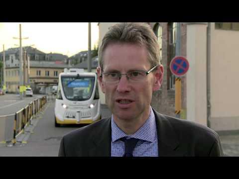 "Autonomer Bus ""Trapizio"" zu Gast in Dresden"
