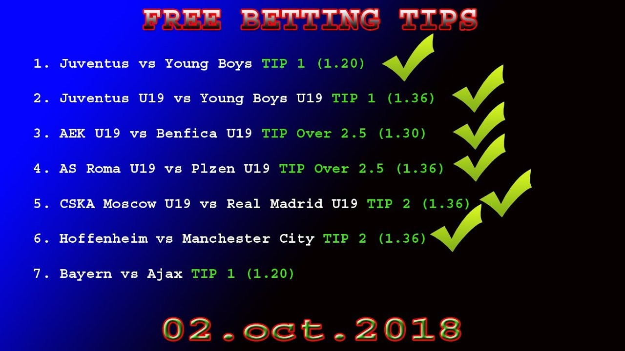 TRUE TIPSTER 03 OCT 2018 FREE BETTING TIPS -football prediction today
