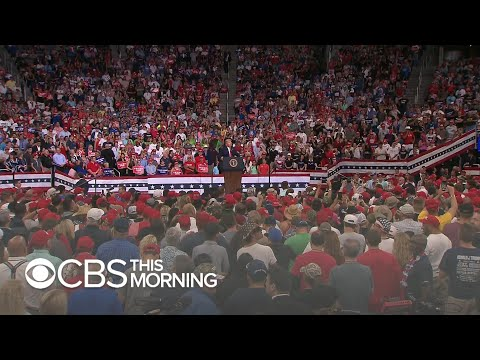 Trump's Rally Draws Large Crowd But Lacks
