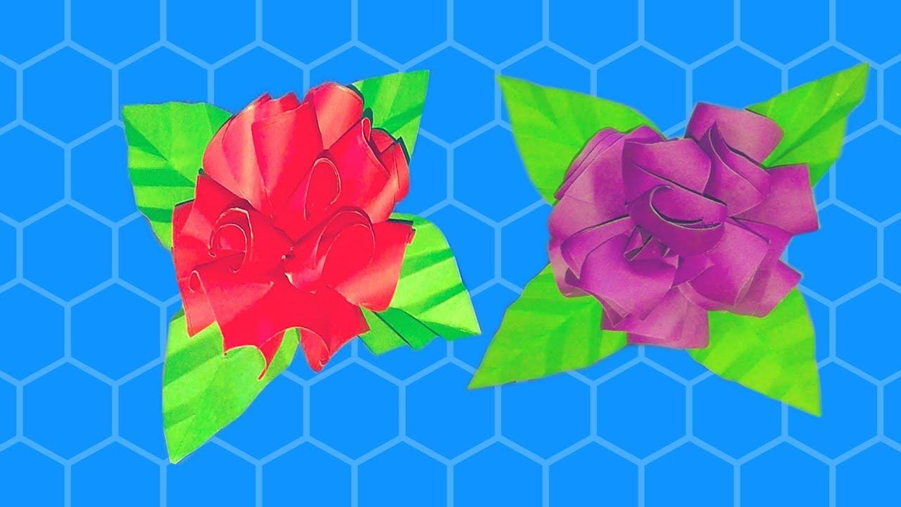 Diy Rosen aus Notizzetteln Flower Tutorial-Blumen aus papier - YouTube