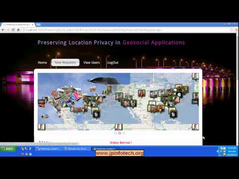 Preserving Location Privacy in Geosocial Applications in dot net