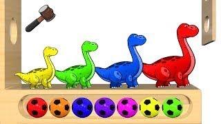 子供のための色を学ぶ(日本語) 恐竜 きょうりゅう カラフル アニメ子供向け 赤ちゃん喜ぶ