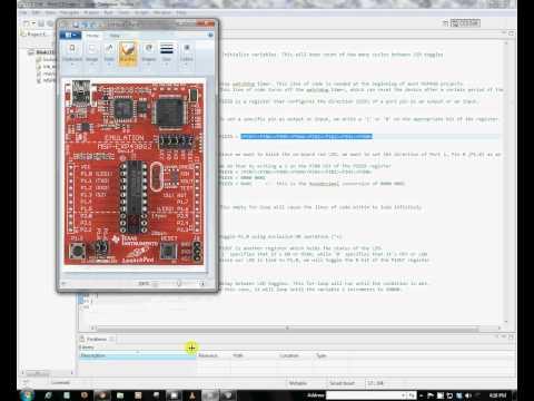 MSP430 LaunchPad - Blinking LED