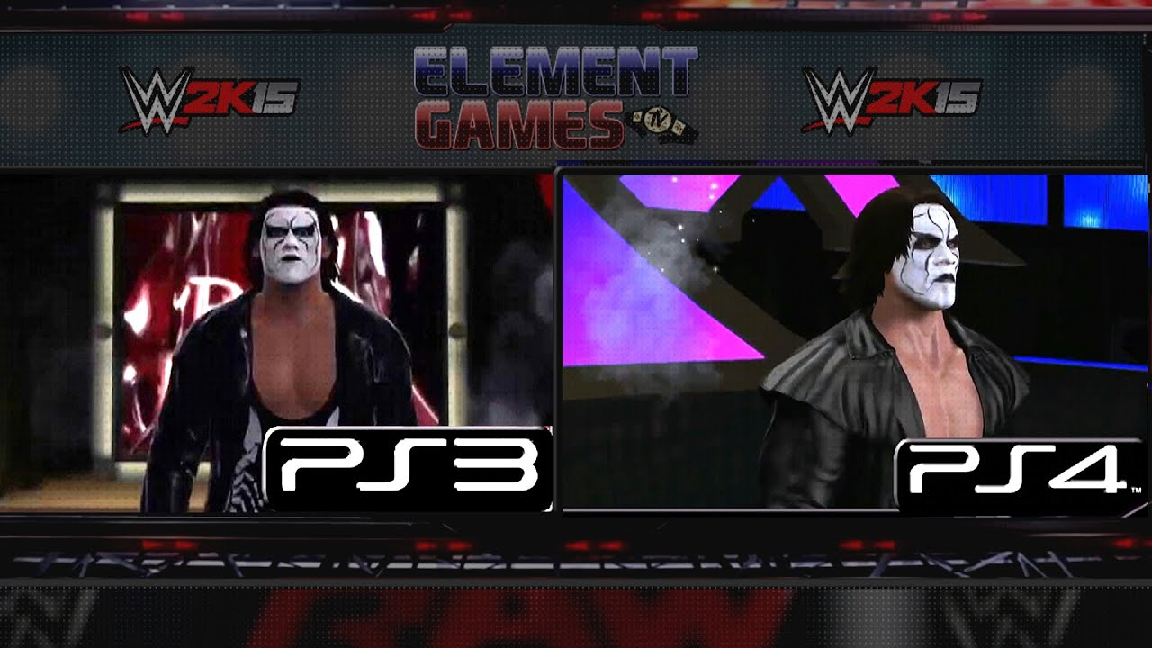 WWE 2K15 : Sting Entrance PS4 vs PS3 Comparison - YouTube