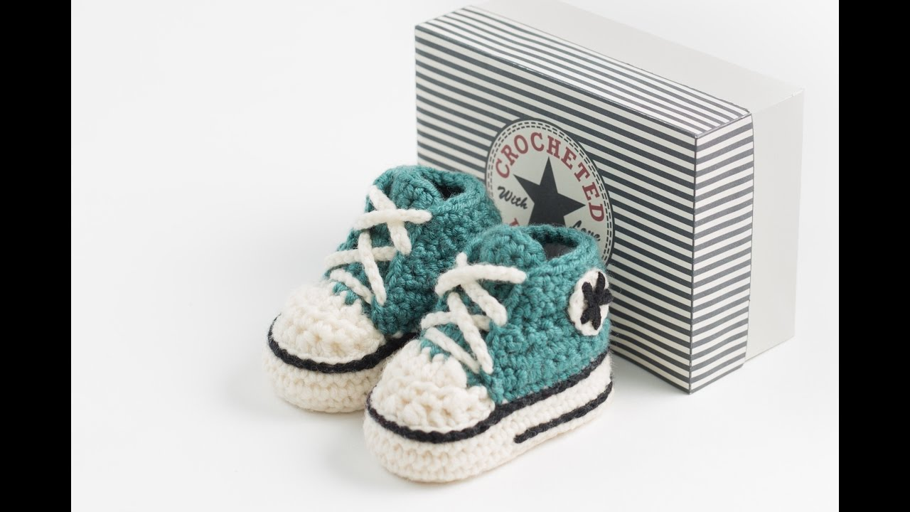Crochet Converse Booties Part 2 Youtube