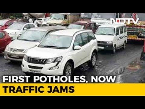 Potholes Lead To 2-Km-Long Jam On Highway In Mumbai Suburbs