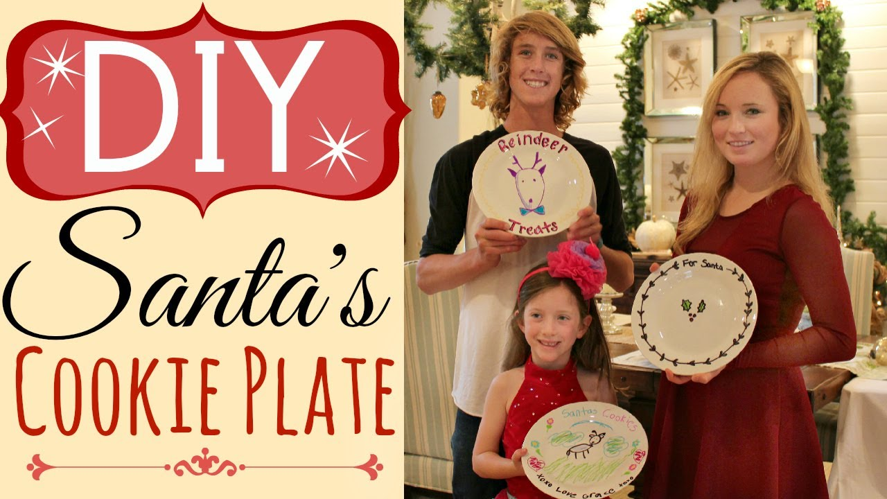 DIY Santa Cookie Plate (EASY) with Sharpie Pens | by Michele Baratta - YouTube  sc 1 st  YouTube & DIY Santa Cookie Plate (EASY) with Sharpie Pens | by Michele Baratta ...