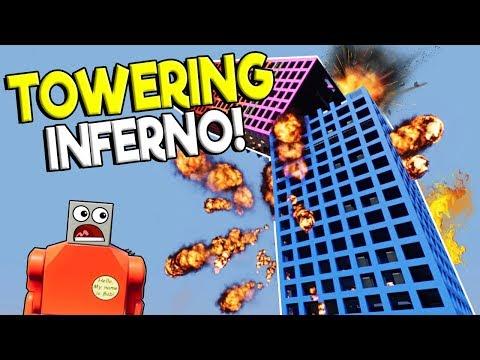 LEGO BUILDING FIRE SURVIVAL CHALLENGE! - Brick Rigs Gameplay Challenge - Lego Building Destruction