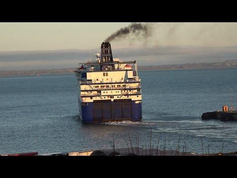 Oscar Wilde Departing Rosslare Harbour