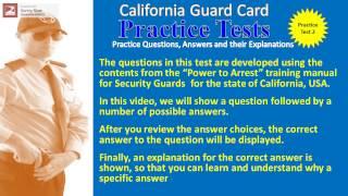 Security Guard Job Practice Test 2