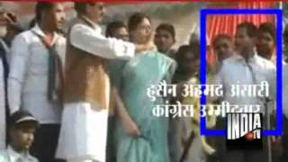 Repeat youtube video Actor Nagma Explodes As Congress Candidate's Finger Caressed Her While Garlanding