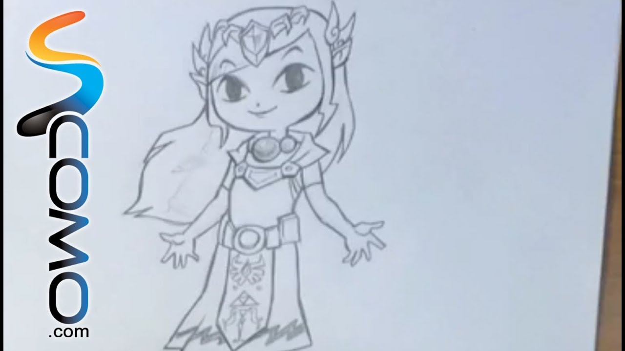 Dibujos Para Colorear Faciles De Hacer De Piolin: Dibujar A La Princesa Zelda