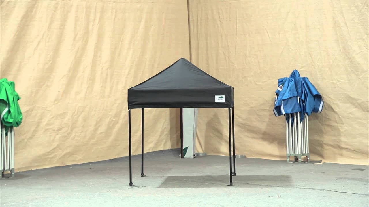 how to set up Eurmax 5x5 pop up canopy & how to set up Eurmax 5x5 pop up canopy - YouTube