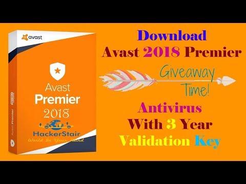 Download Avast Premier 2018 Antivirus Full Version With Validation Key Till 2028