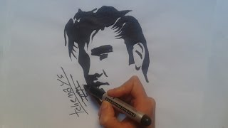 how to draw face presley tattoo