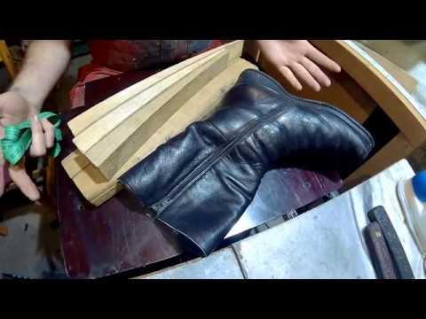 Как растянуть голенища кожаных сапог в домашних условиях