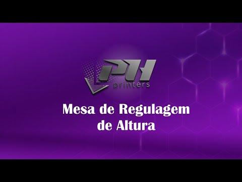 Mesa de Regulagem de Altura para Impressoras com Gabarito Fixo   PH3050FX e PH3250FX