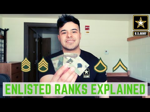 US ARMY RANKS EXPLAINED 2019 (ENLISTED)