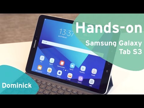 Samsung Galaxy Tab S3 hands-on (Dutch)