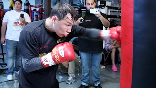 Ruslan Provodnikov COMPLETE Media Work out for his Provodnikov vs Molina fight