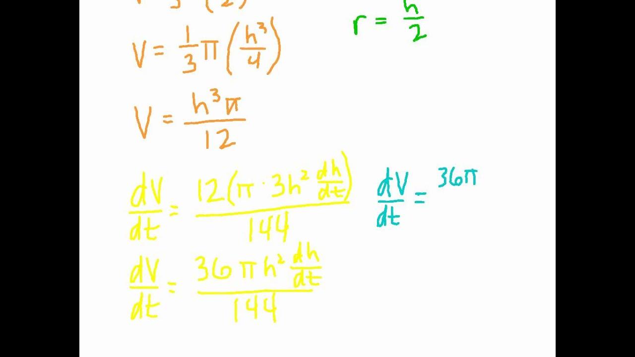 Ap calculus: related rates   calculus, ap calculus, solving.