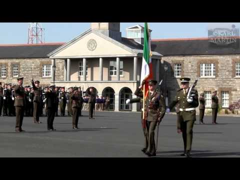 Irish Army colour party & Army No. 1 Band