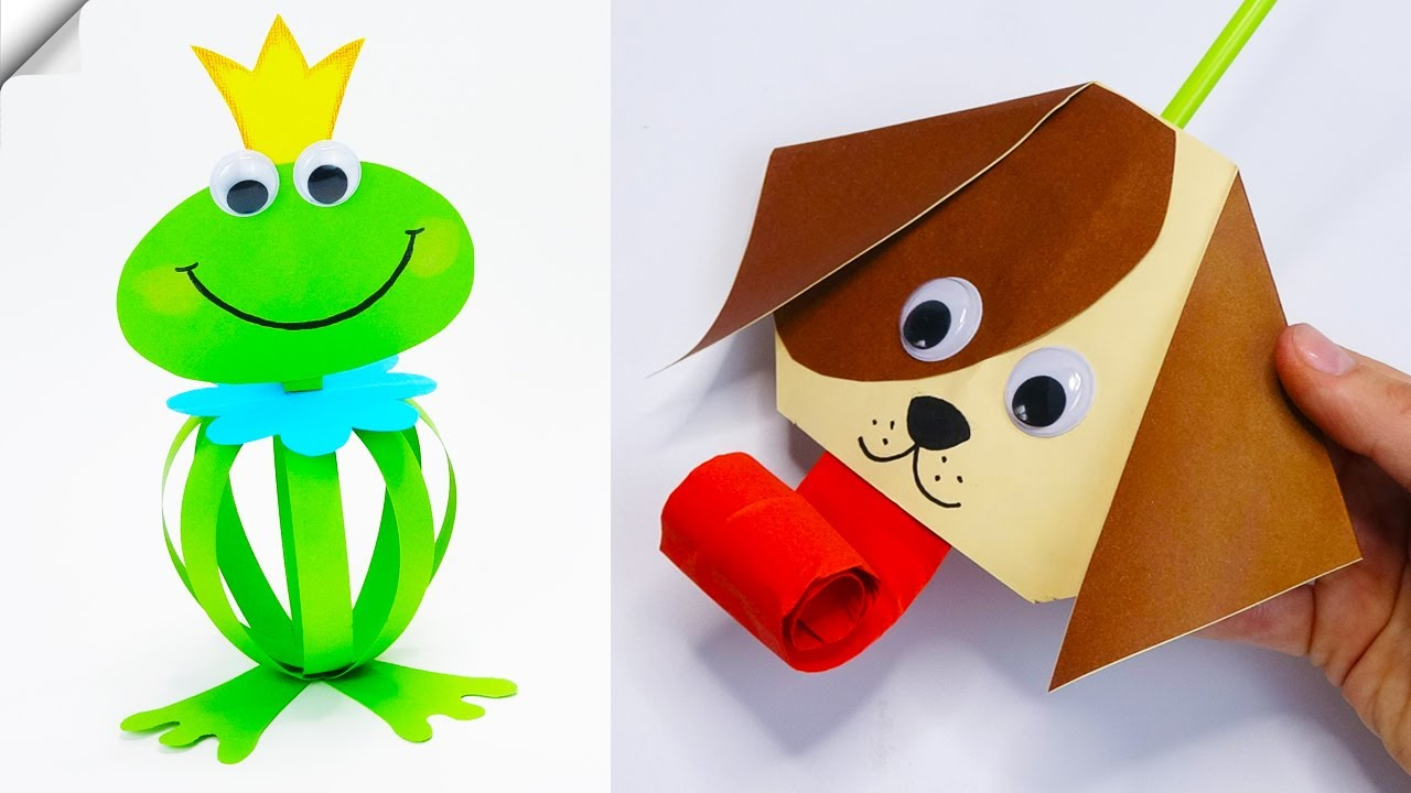7 DIY paper crafts for kids  Moving paper toys