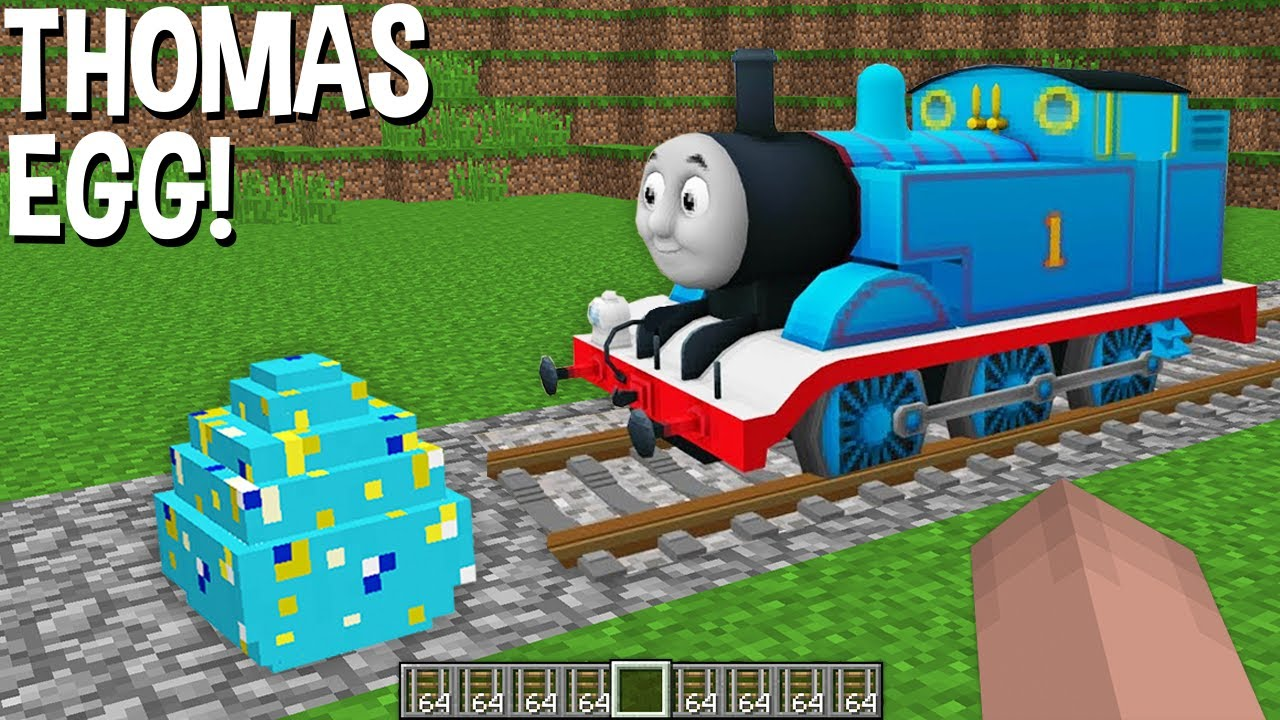 this REAL THOMAS TANK ENGINE EGG in Minecraft ! NEVER SPAWN !