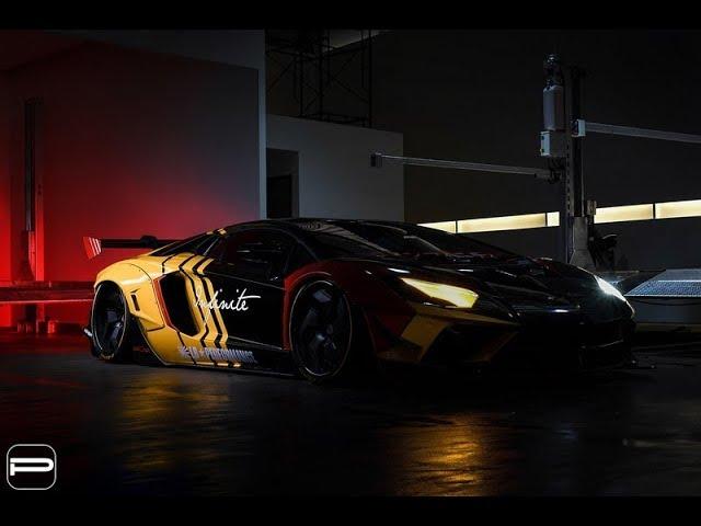 Lamborghini Aventador в обвесе Liberty Walk.