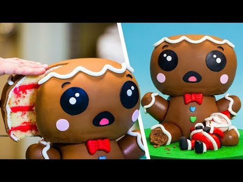 GIANT Gingerbread Man & More Holiday Cake Ideas | How To Cake It Step By Step