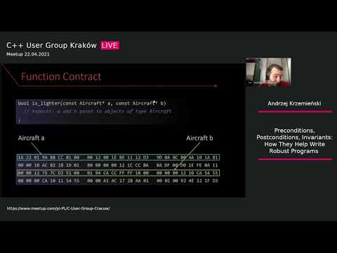 Preconditions, Postconditions, Invariants: How They Help Write Robust Programs - Andrzej Krzemieński