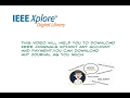 how to download IEEE Journal free ?