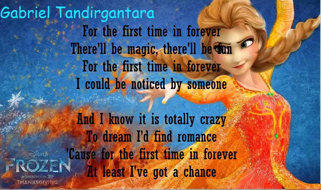 For The First Time In Forever Frozen Karaoke+Lyrics - YouTube