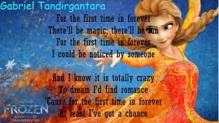 For The First Time In Forever Frozen Karaoke+Lyrics Thumbnail