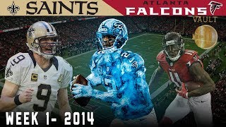 Matty Ice & Brees Duel on Opening Sunday! (Saints vs. Falcons, 2014) | NFL Vault Highlights