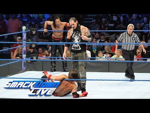 AJ Styles & Shinsuke Nakamura vs. Kevin Owens & Baron Corbin: SmackDown LIVE, July 18, 2017