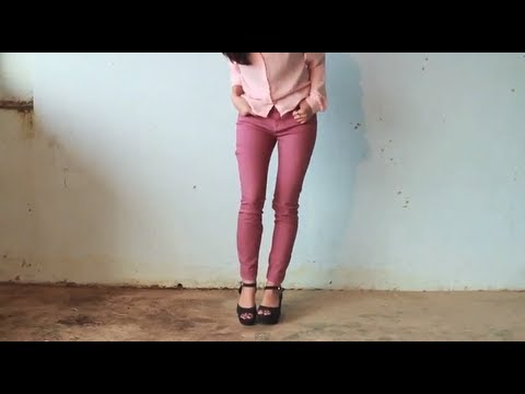 DIY: Turning Flare Jeans Into Skinny Jeans - YouTube