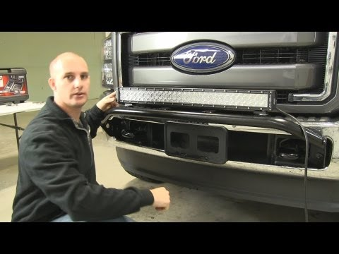"Installation of a 30"" LED light bar from Bulldog. Mounted on a 2011 Ford F250 Super Duty"