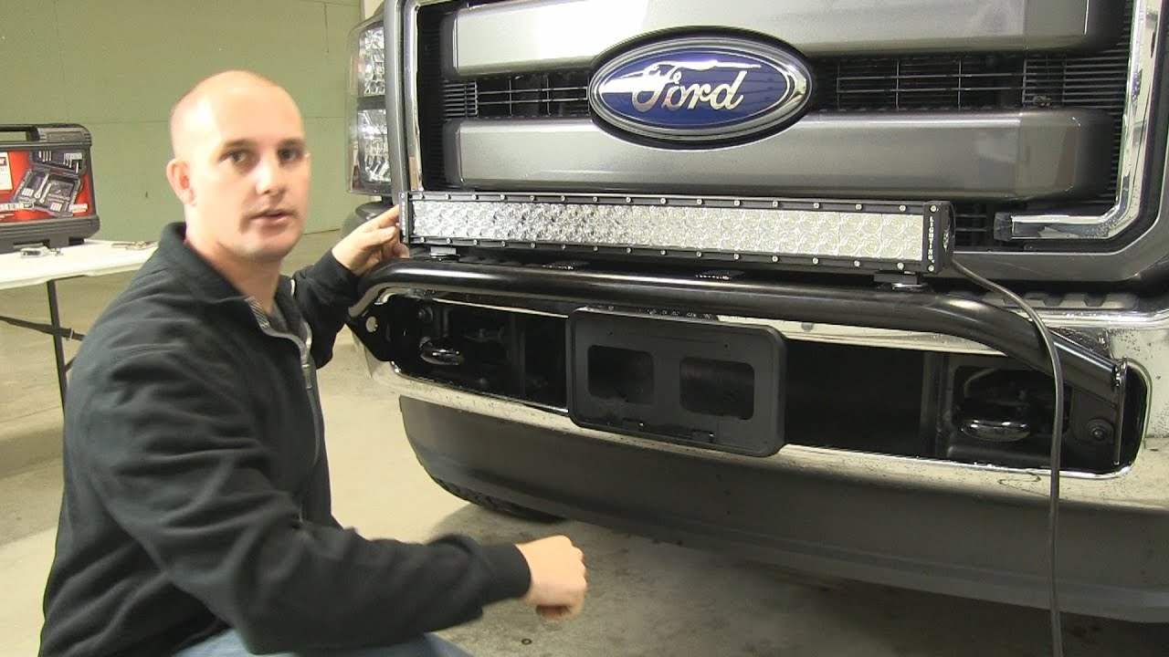 Installation of a 30 led light bar from bulldog mounted on a 2011 installation of a 30 led light bar from bulldog mounted on a 2011 ford f250 super duty youtube aloadofball Images