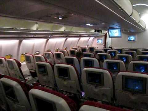 A340-600 Cabin view - Qatar Airways - World's 5 star ...