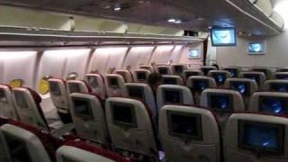 A340-600 Cabin view - Qatar Airways - World's 5 star airline