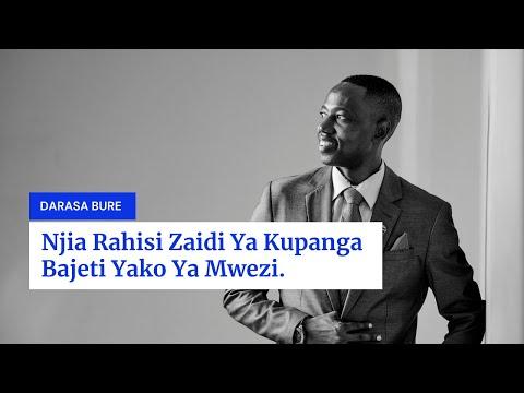 Jinsi Ya Kupanga Bajeti(Tumia 50/30/20)