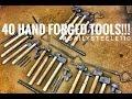 MAKING 40 HAND FORGED BLACKSMITHING TOOLS