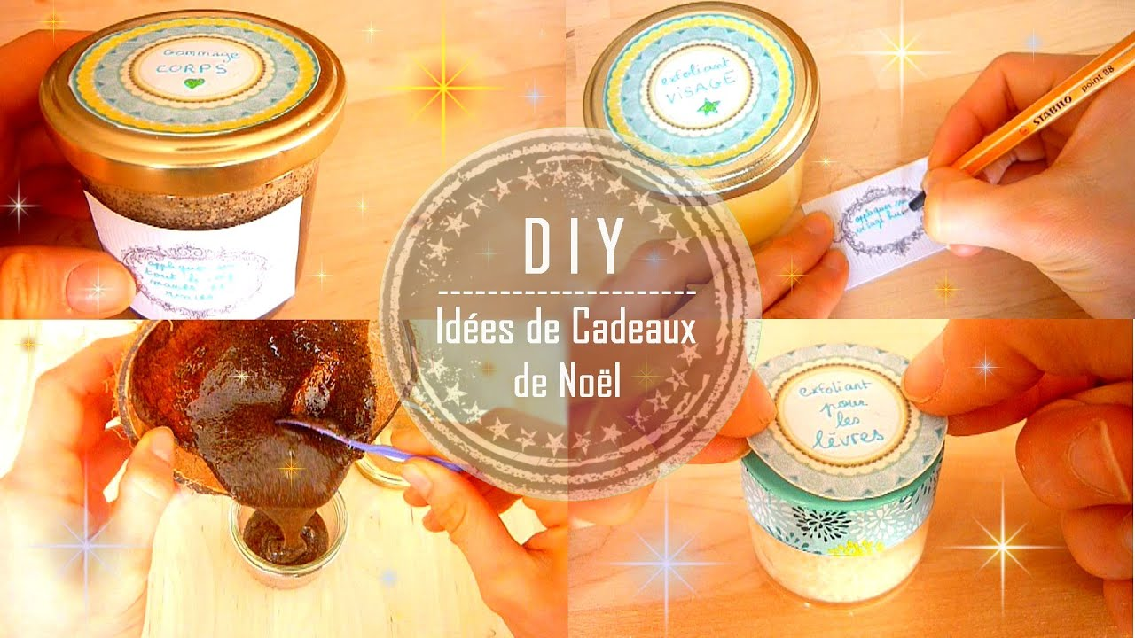 diy id es de cadeaux de no l faits mains 3 soins corps visage l vres claire youtube. Black Bedroom Furniture Sets. Home Design Ideas